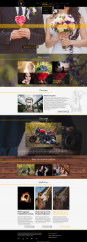 Design for personal photographer website