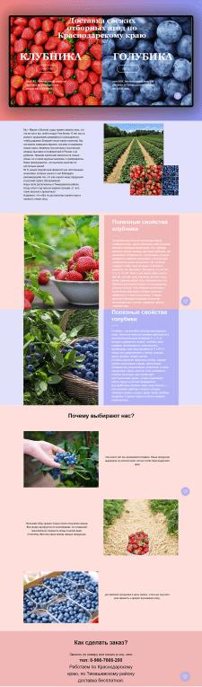 Сайт для продажи ягоды