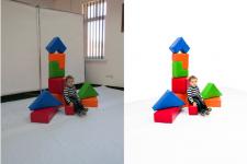 Пример Сделать белым фон + коррекция цвет\контраст