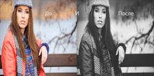 Эффект матового ЧБ Matte Black and White в фотошоп