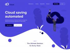 Веб-дизайн для облачного сервиса