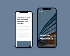 Дизайн сайта минималестичного мобильна версия