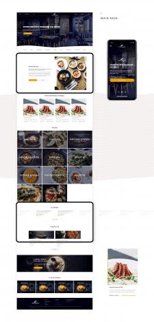 WordPress ресторан Montblanc