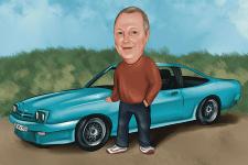 Портрет с машиной