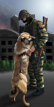 Солдат и собака