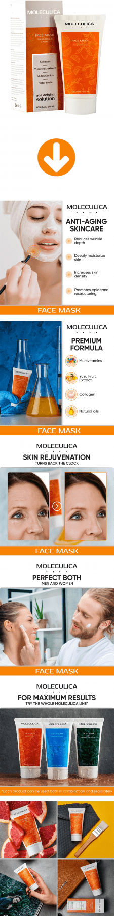 Листинг Amazon - Moleculica Anti Aging Face Mask