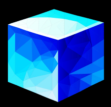 Cube low poly