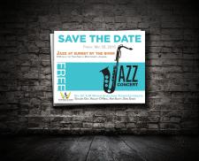 """Джазовый концерт """"save the date"""" card"""