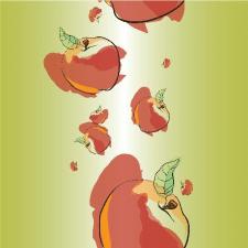 pattern with apples/ векторная графика