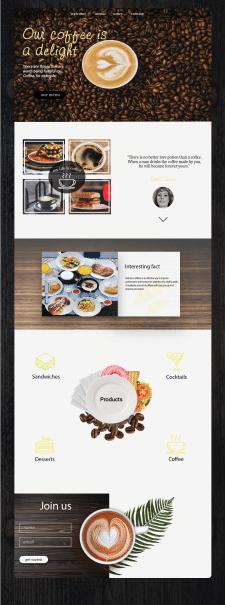 Дизайн сайта для кофейни