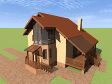 Дом на существующем фундаменте 1