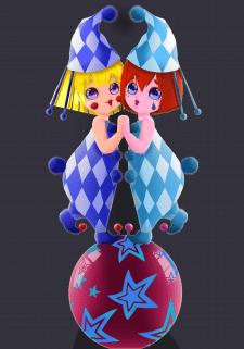 A sweet circus acrobats