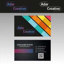 """Визитка для типографии """"AdarCreative"""""""