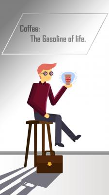 Иллюстрация для кофейни