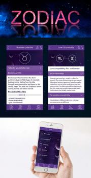 Дизайн интерфейса приложения Zodiac