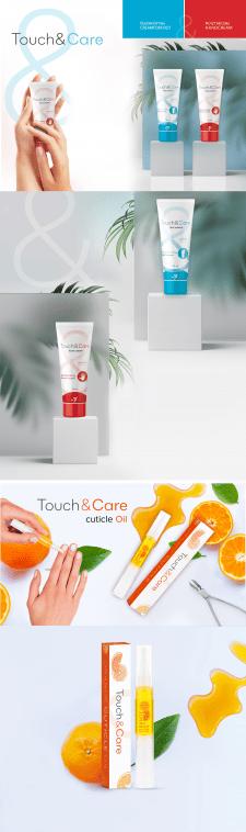 """Дизайн крема для рук и ног """"Touch&Care"""""""