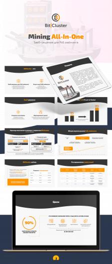 Дизайн презентации BitCluster