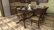3Д стол на кухне