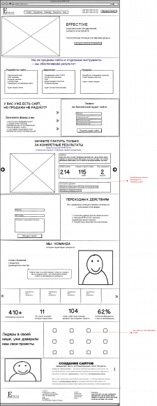 Прототип сайта для интернет-агентства