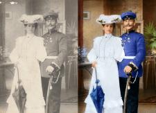 восстановление и колоризация старинной фотографии