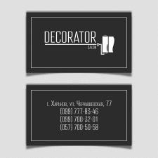 Дизайн визиток салона декоративных штукатурок
