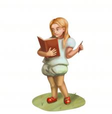 Иллюстрация десятилетней девочки