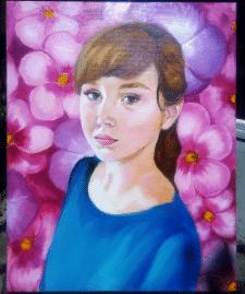 портрет масляными красками на холсте
