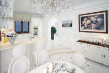 Дизайн проект частного дома в классическом стиле