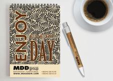 Разработка дизайна блокнота и ручки. Брендирование