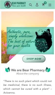 Shopify интернет-магазин BearPharmacy