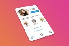 Визитка в стиле профиля Instagram