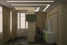 проект кабинета-спальни