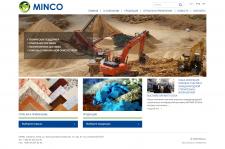 Корпоративный сайт компании Minco