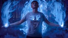 Обработка в синем магическом стиле