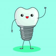 Персонаж дентальный имплант