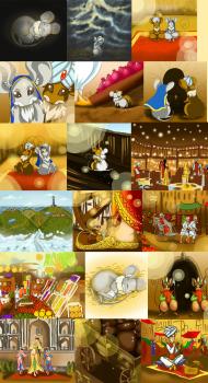 """Иллюстрации к детской книжке """"Мышка путешественница"""""""
