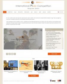 Сайт музыкального конкурса на CMS Wordpress