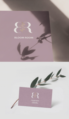 Логотип для студии мероприятий и цветов Bloom Room