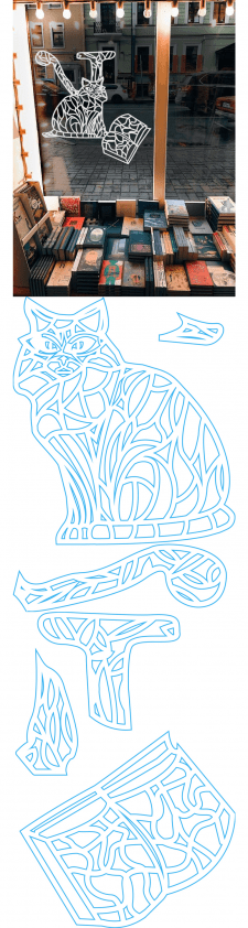 Создание дизайна вытынанки №2