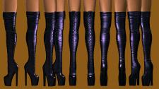 lace-boots, обувь выполнена в Zbrush