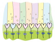 Цветы-сердечки