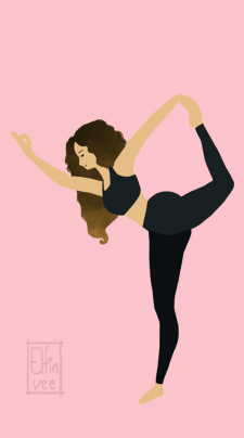 Ілюстрація для візитки йога тренера