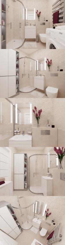 Дизайн ванной. Дизайн 1ком. квартиры в г.Харьков