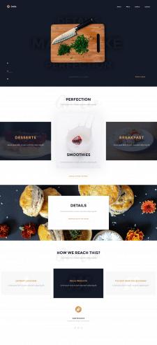 Верстка многостраничного сайта ресторана