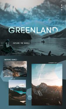 Лендинг по продаже туров в Гренландию