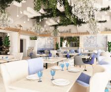 Дизайн проект ресторана, основной зал