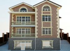 Фасад индивидуального жилого дома