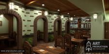 3d визуализация интерьера ресторана (г. Чернигов)