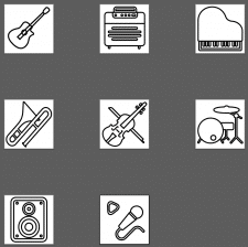 Иконки для магазина музыкальных товаров
