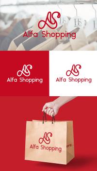 логтип для интернет-магазина Alfa-Shopping